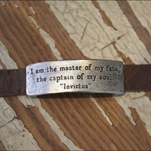 Victorian Poet Invictus Captain of my Soul Quote